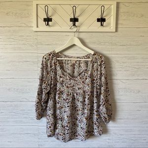 Mossimo | Floral Blouse